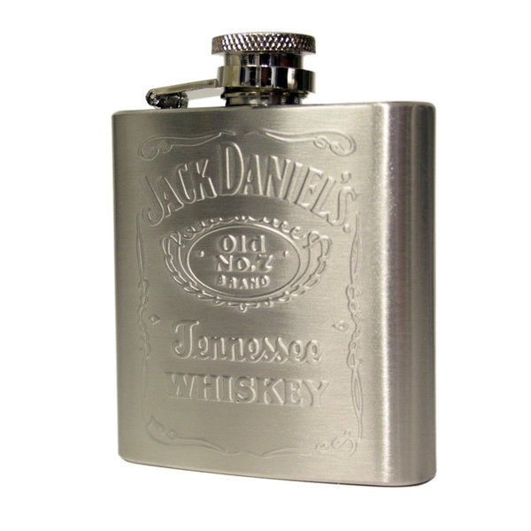 2.5oz Jack Daniel's stainless steel hip flask