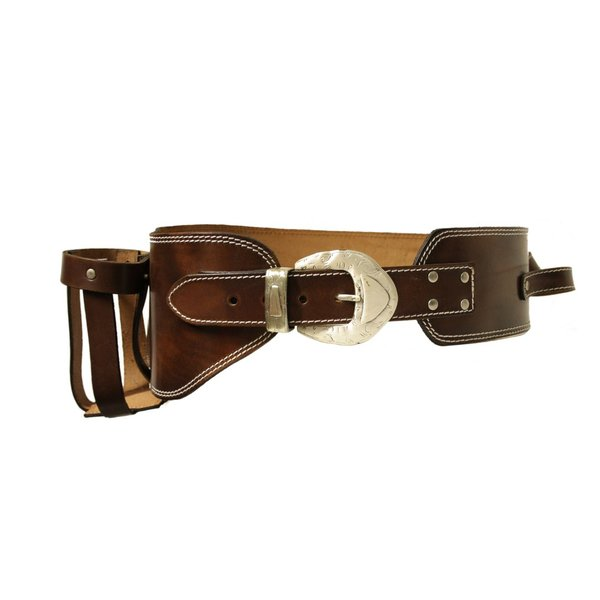 Jack Daniel's Western leather bottle holster belt