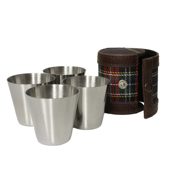 1oz shot cups with tartan case